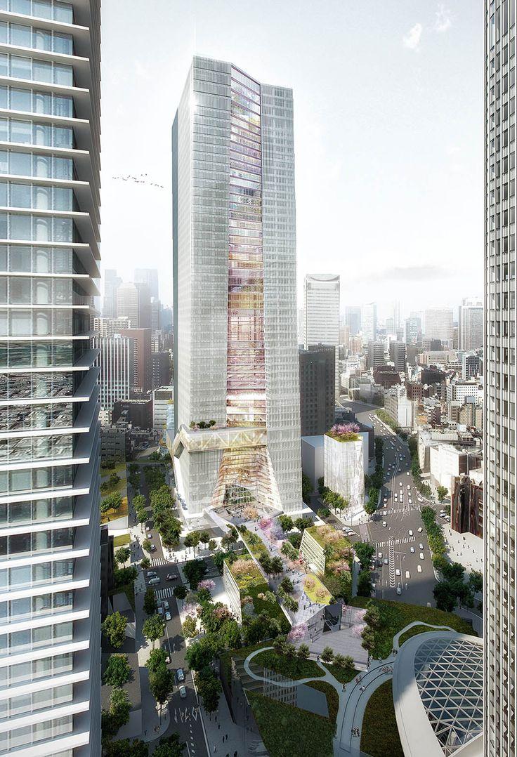 OMA reveals design for first skyscraper in Tokyo