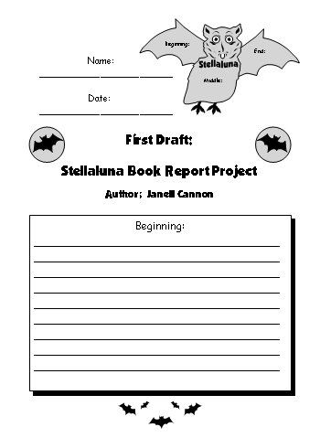Stellaluna First Draft Creative Writing Worksheet For Project