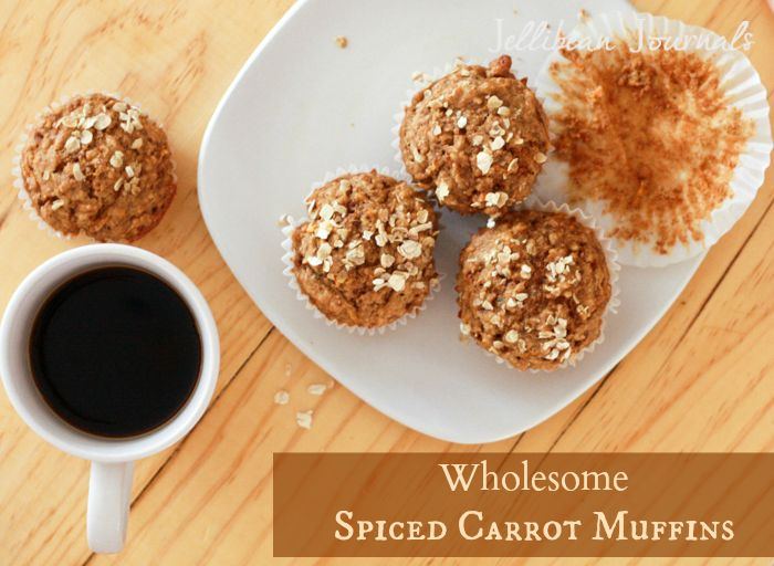 Healthy Carrot Muffins- Tasty snacks that double as a quick breakfast too!   JellibeanJournals.com
