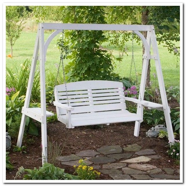 Porch swing frame woodworking projects plans for Log swing plans