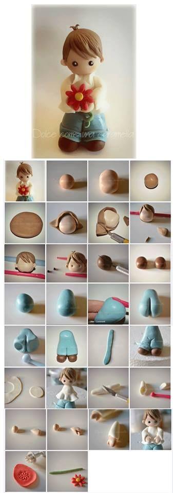 Little Boy - Polymer Clay