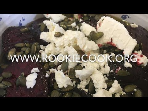Roast Beetroot Salad with Feta and a Black Garlic and Balsamic Dressing - Rookie Cook