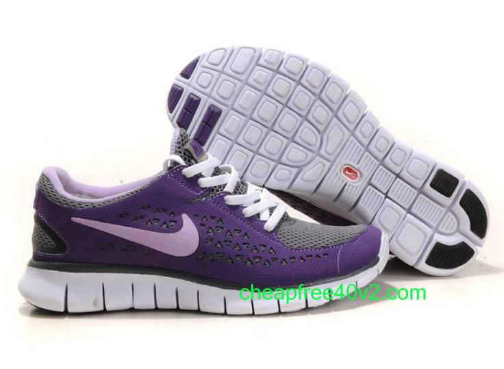 Hwv6687 Nike Free Run Women's Running Shoe Pure Purple/Dark Grey For Sale