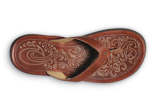 """Flip Flops I fell in love with in Hawaii - I looked them up when I got home and they're called Panilolo by OluKai.  It's funny because """"Panilolo"""" means Hawaiian Cowgirl."""