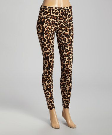 Another great find on #zulily! Tan & Black Cheetah Leggings by Capelli New York #zulilyfinds