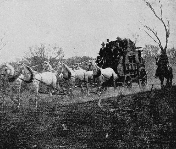 Gold Escort Conveying Gold from the Mines to the Bank - South Australia 1908