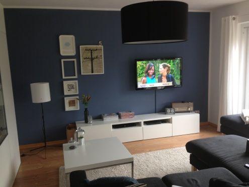 Wohnzimmer Tags Blau  Offenes wohnen  Wandfarbe in 2019  Pinterest  Blue walls Blue rooms