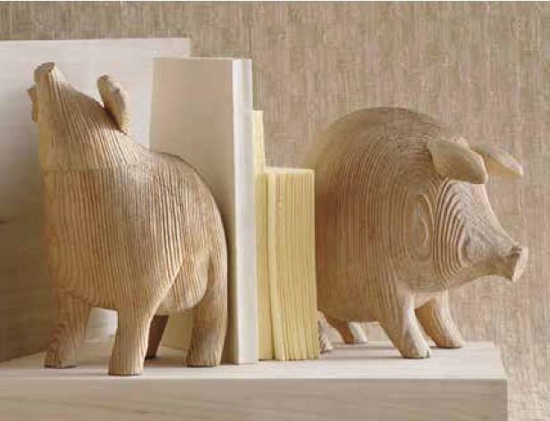 Roost Pair Of Pig Bookends