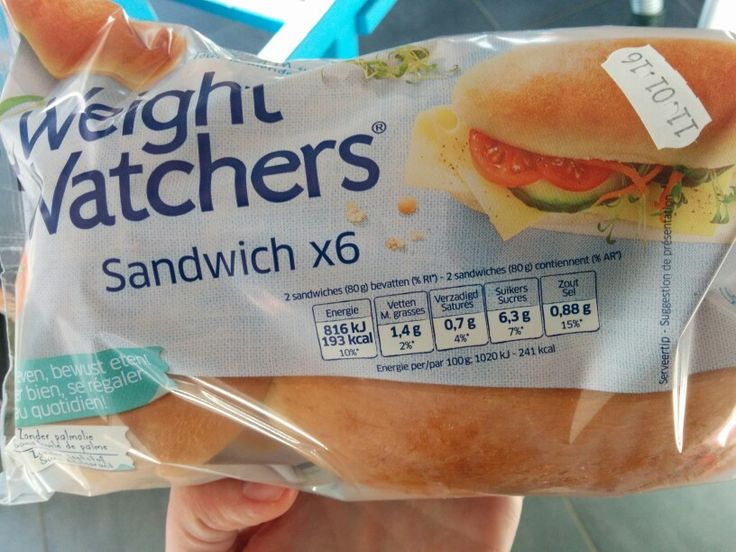 sandwiches weight watchers lactosevrij Delhaize