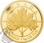 Canada: $2500 Maple Leaf Forever Kilo Gold Coin 2012