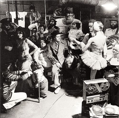 bob dylan and the band preparing for the basement tapes cover
