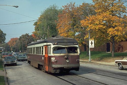 The Philadelphia Suburban Transportation Company trolley system was absorbed into the SEPTA system in 1970. Its two remaining trolley routes, to Media and Sharon Hill, used 1930's and 40's vintage double-end trolleys until the arrival of new Light Rail Vehicles in 1981.