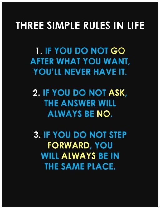 Three simple rules in lifeLife Quotes, Life Rules, Life Lessons, Simple Rules, Motivation, Three Simple, Living, Inspiration Quotes, Moving Forward
