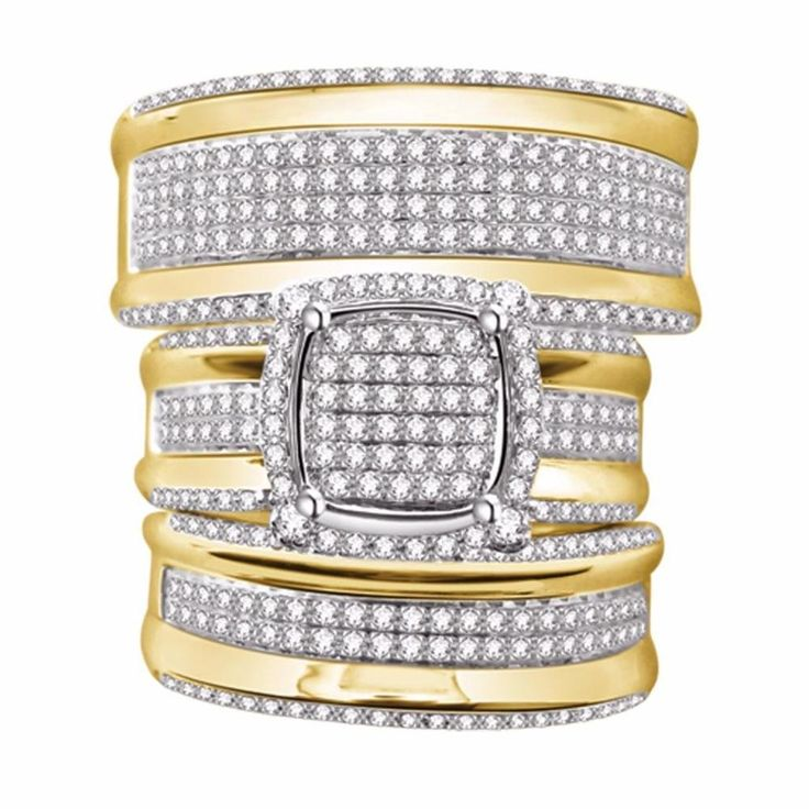 42 best 10k Pure Gold Real Diamond Rings images on Pinterest