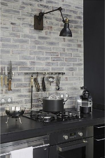 Pin by elizabeth matustik on kitchens pinterest for Black washed kitchen cabinets