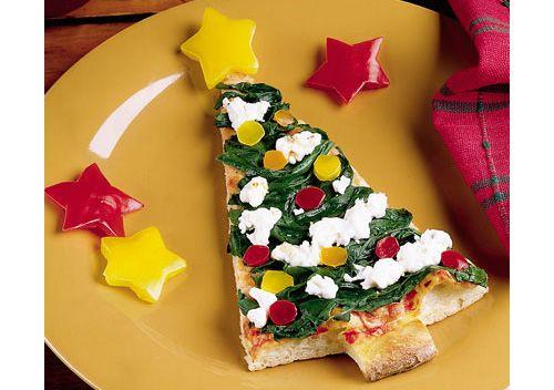 Christmas food ideas - Christmas tree pizza  #Christmas #food #pizza