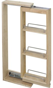 """Wall Cabinet Filler Pullout  6"""" x 11-1/8"""" x 42"""" traditional-kitchen-drawer-organizers"""