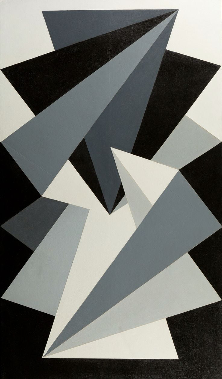 PIETER DE HAARD  (Rotterdam 1914 - Rotterdam 2000)  Double Pentagon No. 4 ca. 1946-1947 Oil on panel 166 x 96 cm