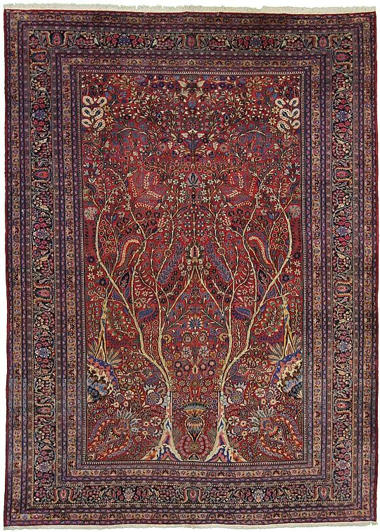 376cm x 518cm Red Birjand Persian Rugs