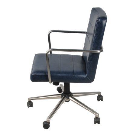 Raiven Modern Rustic Office Chair, Multiple Colors, Blue