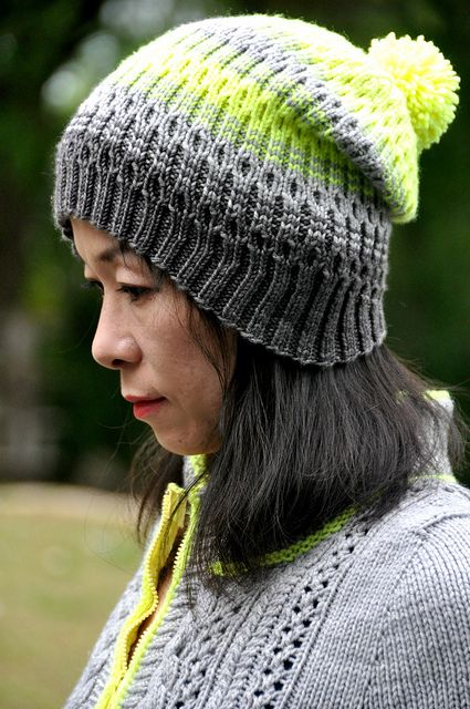 VulcanSpy Hat by La Maison Rililie: FO by jettshin on ravelry. #knitting #pattern #knitindie
