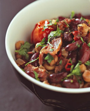 Mexikaanse rooibone en spek    SARIE   Mexican red beans and bacon