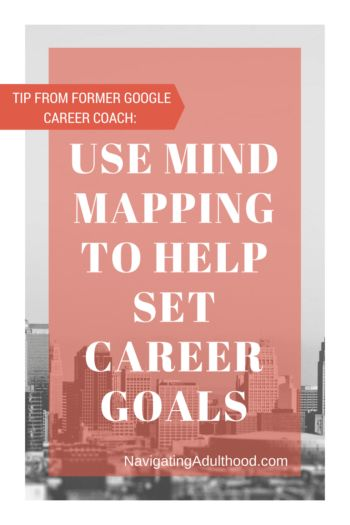 Tip From Former Google Career Coach: Use Mind Mapping to Help Set Career Goals- learn more at NavigatingAdulthood.com