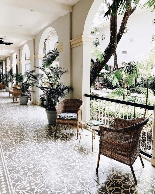 WEBSTA @andreannu tropical vibes at @hotel_del_parque 🌴 (and beautiful tiles! 💙💙💙) - - - - -