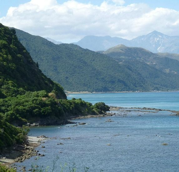 The Kaikoura Coastline, New Zealand - Snapped while travelling  on board the Coastal Pacific Scenic Journey