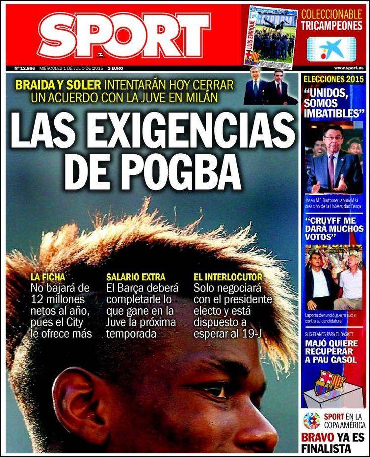 Portada Sport 1/07/2015