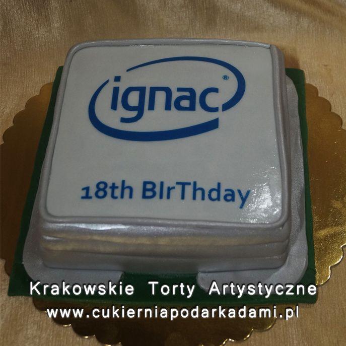047. Tort dla firmy Ignac w kształcie procesora komputerowego. Computer processor cake.