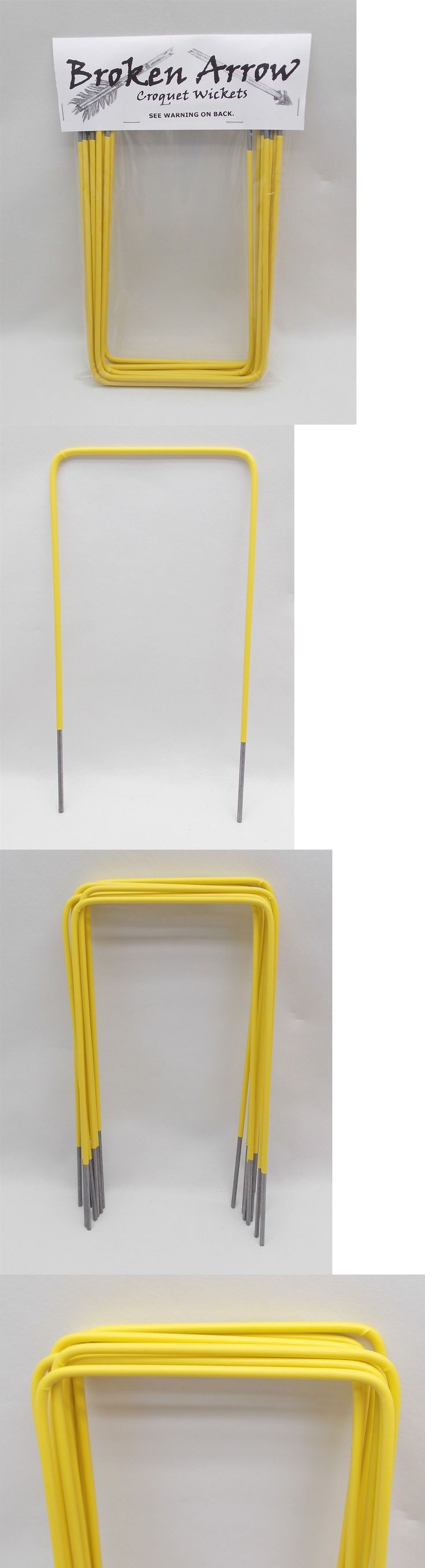 Croquet 117210: 1 Set Of Croquet Wickets Hoops Heavy 9 Ga. Steel Yellow Plastic Coated 5 Square -> BUY IT NOW ONLY: $34.99 on eBay!