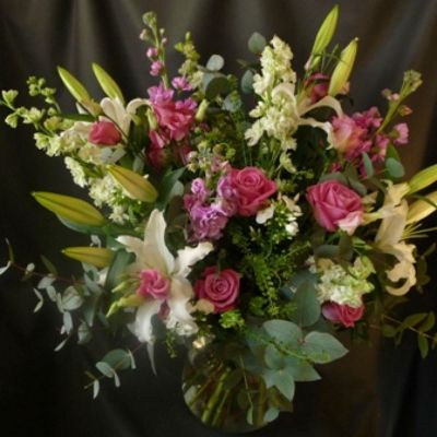 LARGE handtied bouquet with choice flowers and foliages. A 'WOW!' Factor.  Part of Mothers Day 2016 Collection.