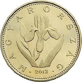 20 forintos érme : Magyar nőszirom (iris aphylla hungarica)