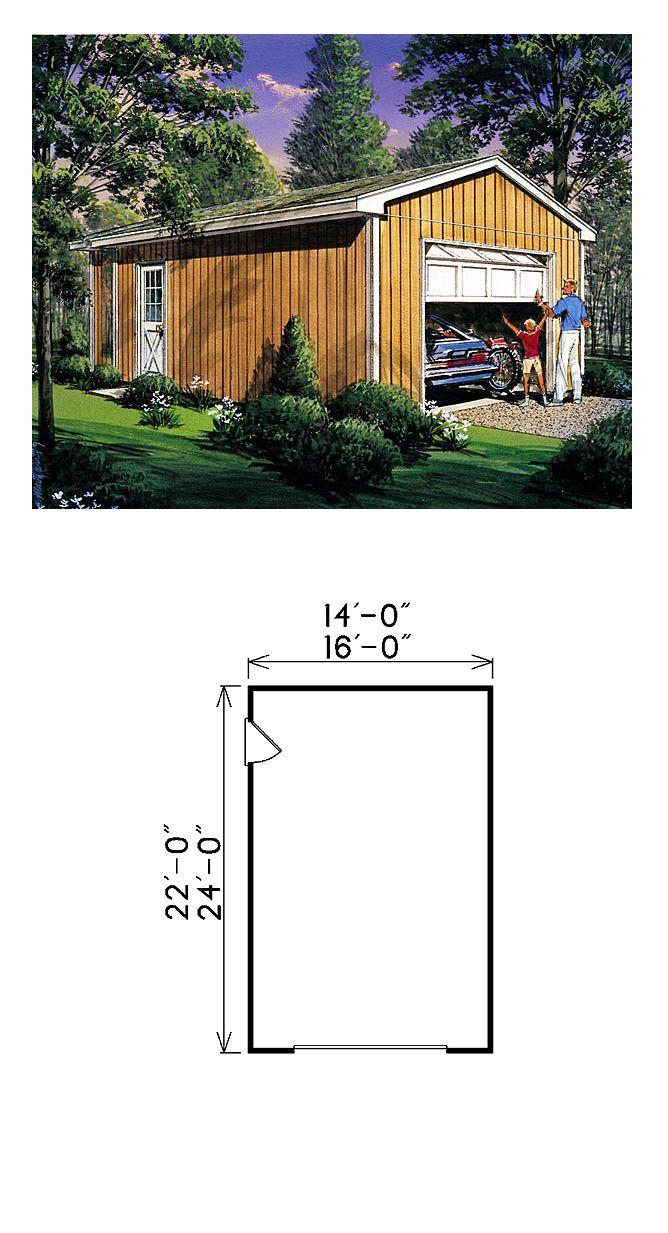 27 best one car garage plans images on pinterest garage plans garage plan 87850