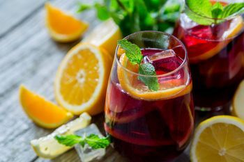The beauty of the basic sangria recipe is that it's as delicious as it is easy and it only gets better as you spice it up with your own creative culinary additions of citrus, berries, peaches, kiwi and of course red wine (or opt for white wine).
