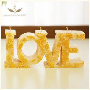 Natural Light Candle LOVE キャンドル