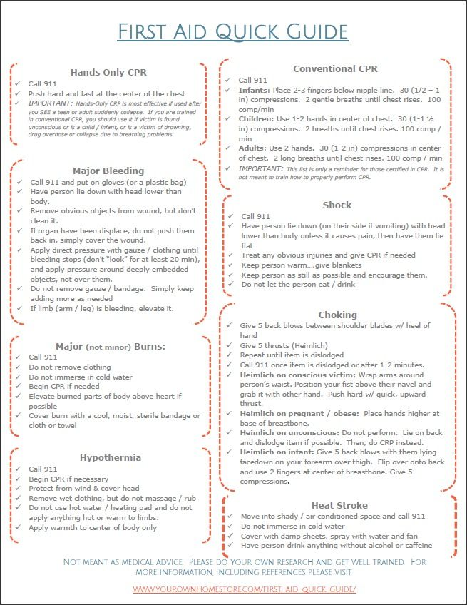 basic first aid booklet pdf
