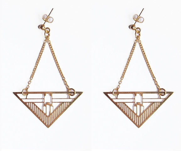 Boucles d'Oreilles Wagner / Geometric Wagner Earrings by Chic Alors ! available on www.autreshop.com !