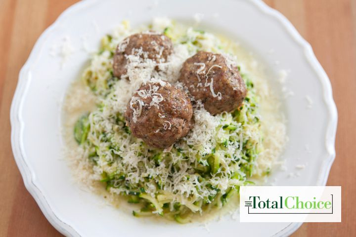 Total choice turkey meatballs and zucchini noodles this for Zucchini noodles and meatballs recipe
