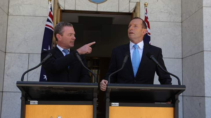 Christopher Pyne, the joker in pack, could bring down Tony Abbott  Read more: http://www.smh.com.au/federal-politics/political-opinion/christopher-pyne-the-joker-in-pack-could-bring-down-tony-abbott-20131203-2yof5.html#ixzz2mb6LMmap