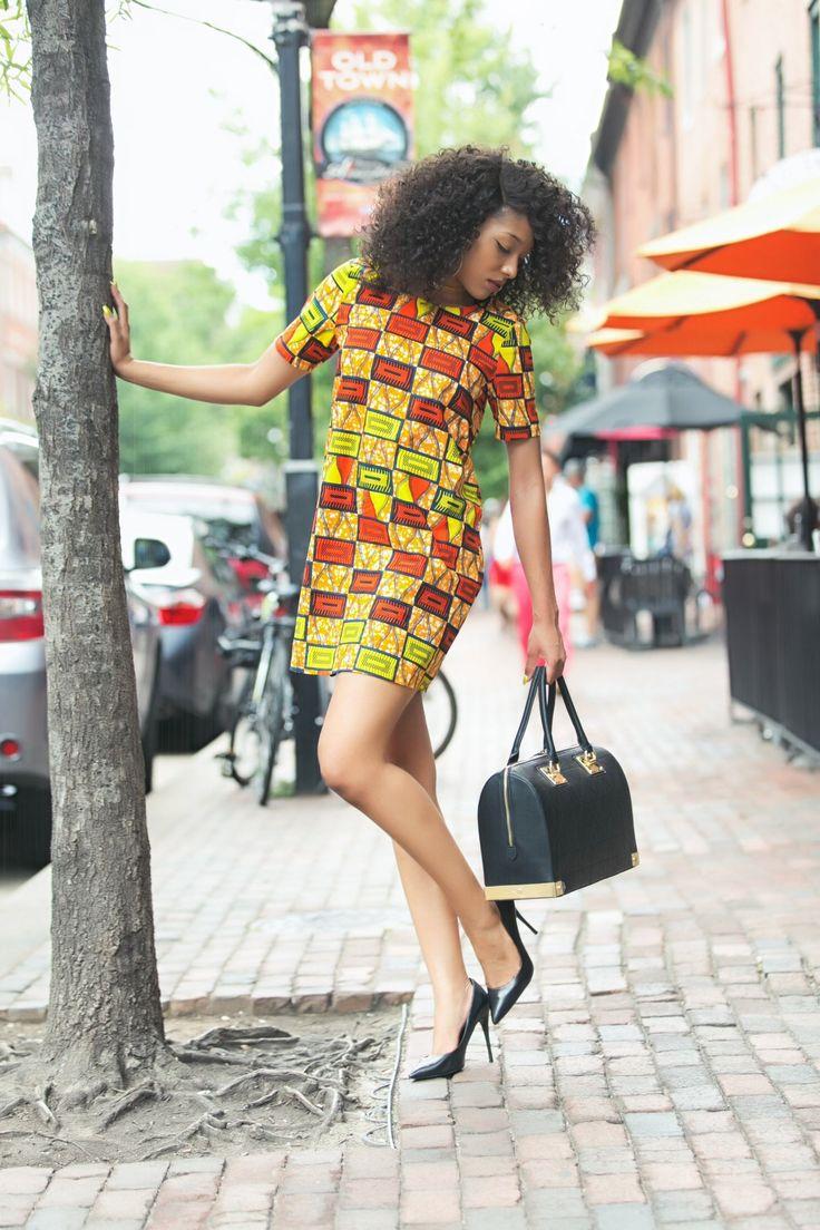 African Print Mini Dress | Ankara Party Dress | Dashiki Dress | Shirt Dress in 2021 | African fashion, African dress, African attire