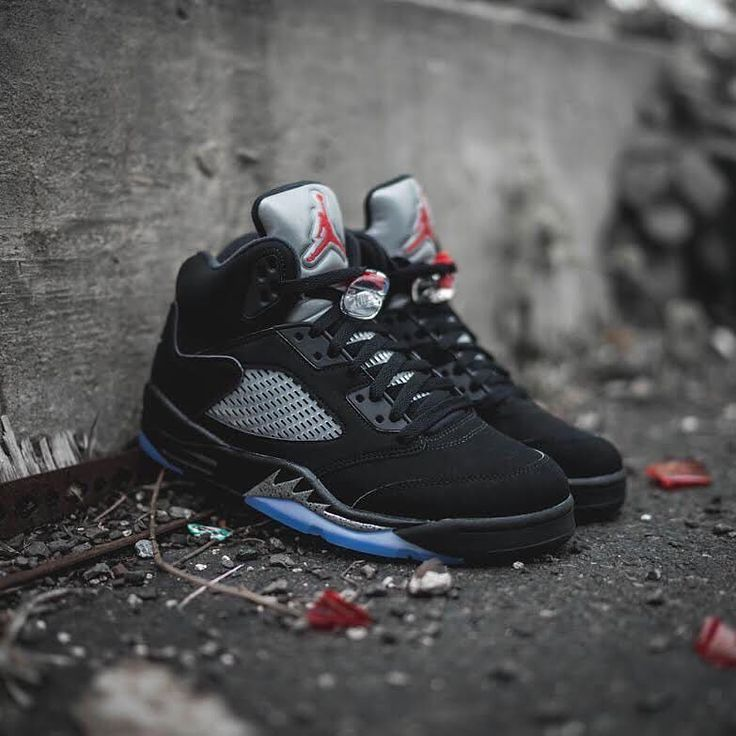 "NEW ARRIVALS: Nike Air Jordan 5 OG ""Black Metallic Silver"" is in stock in men's & youth sizes at kickbackzny.com."