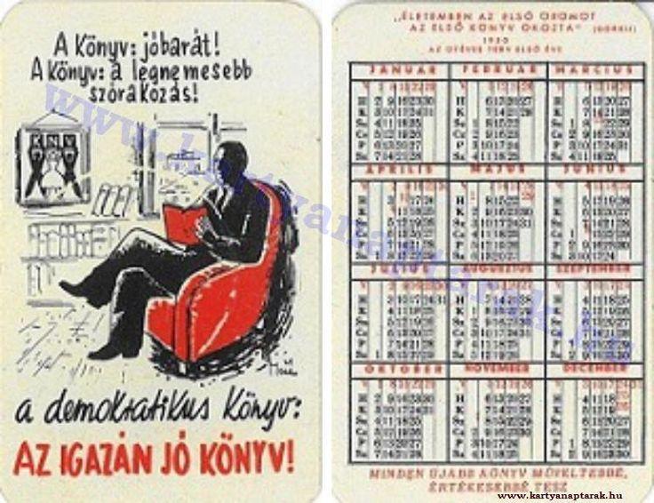 1950 - 1950_0008 - Régi magyar kártyanaptárak