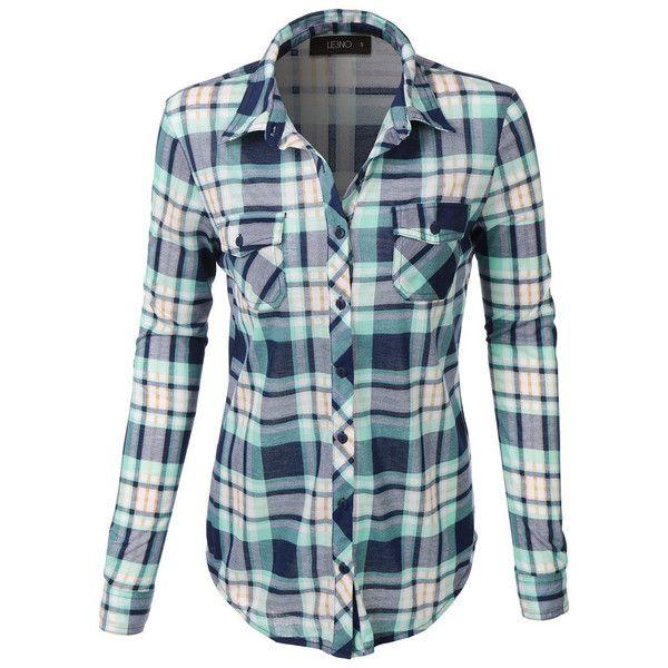 Aqua Navy Plaid Button Down Shirt ($34) ❤ liked on Polyvore featuring tops, navy blue plaid shirt, plaid button up shirts, navy shirt, button down shirts and navy blue top