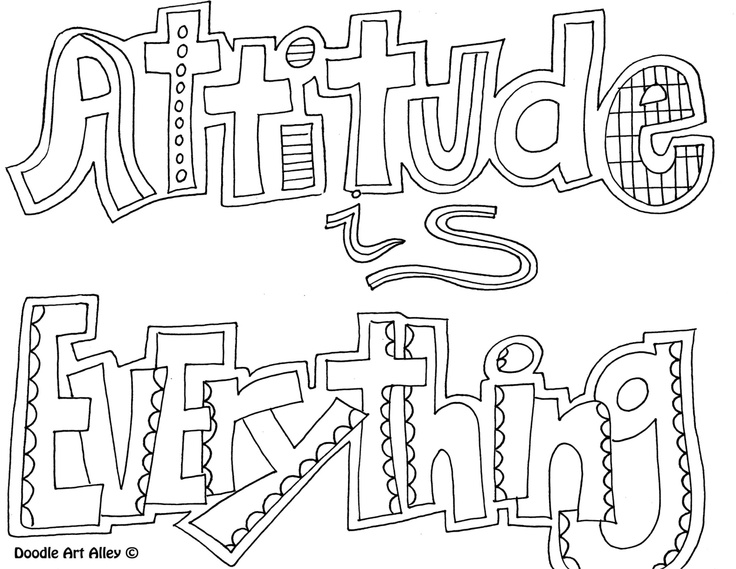 Inspirational art coloring pages coloring pages for Positive quotes coloring pages