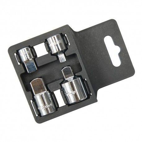 Adaptadores para llaves de vaso, 4pzas