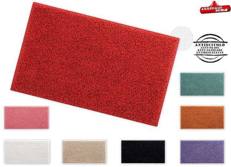 Tappeto bagno camera SHAGGY più misure tappeti scendiletto moderno salotto tondo