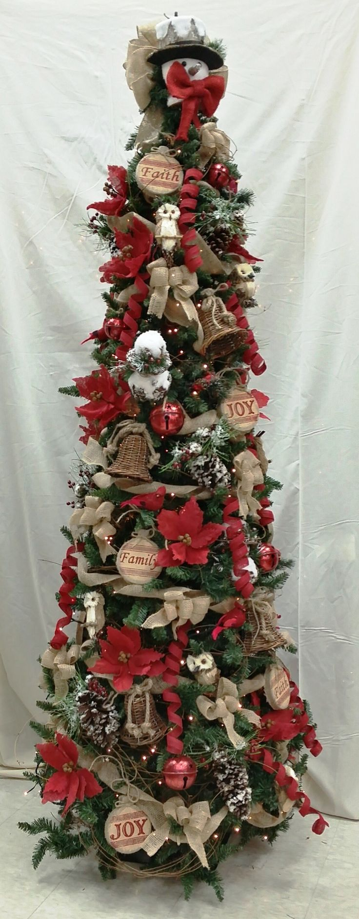 Love a more traditional Christmas Tree? Check out our custom made Woodsy Primitive Christmas Tree! #2014 #christmastrees