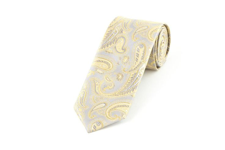 Silver Gold Vest Fabric Wedding Necktie